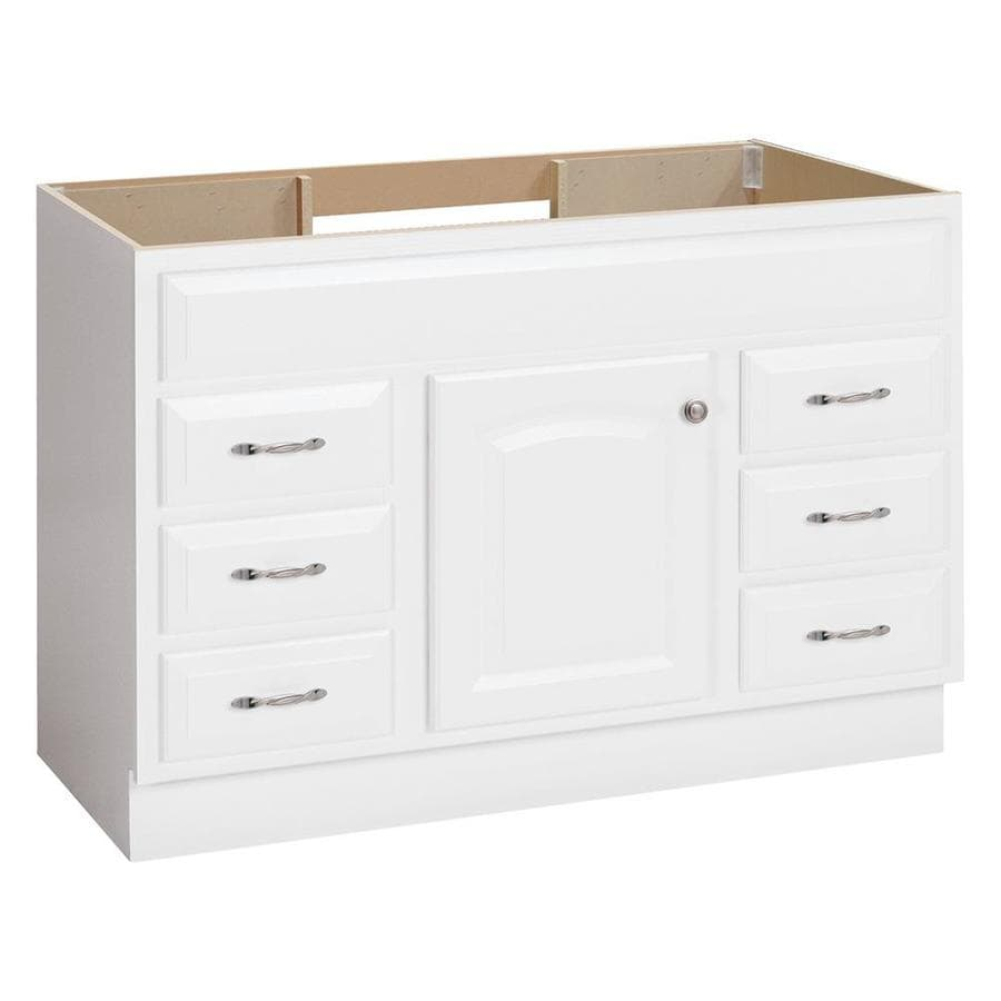 shop project source white bathroom vanity (common: 48-in x 21-in