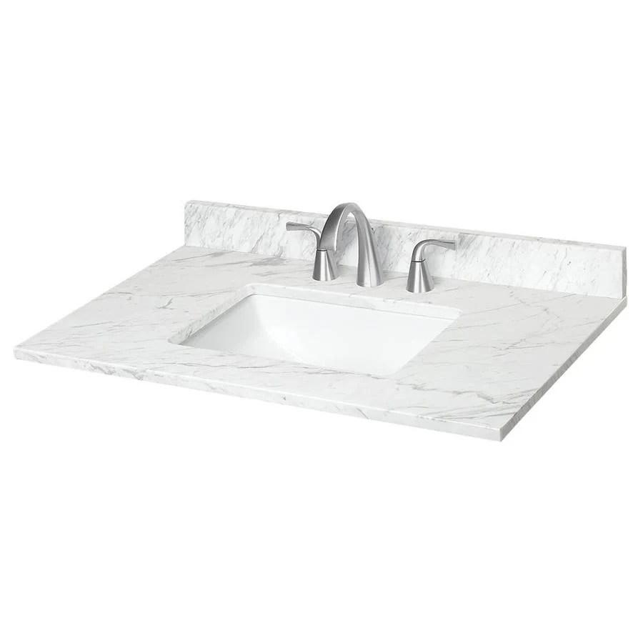 31in Ariston Natural Marble Bathroom Vanity Top at Lowescom