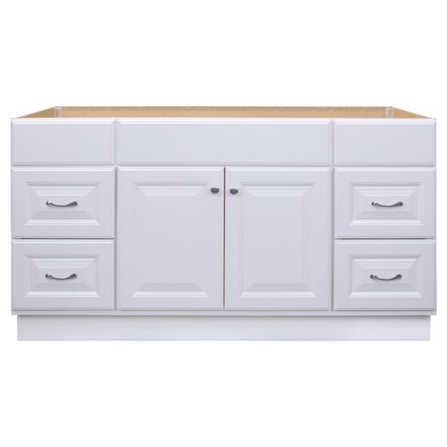 Project Source 60 In White Bathroom Vanity Cabinet In The Bathroom Vanities Without Tops Department At Lowes Com