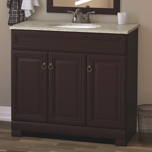 Style Selections Gladmere 36.5-in Java Single Sink