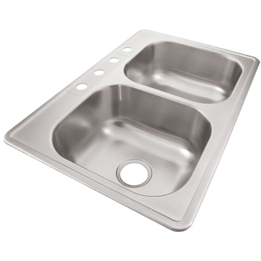 stainless steel kitchen sinks 33 x 22 marsh cabinets shop elkay 33-in 22-in radiant double-basin ...