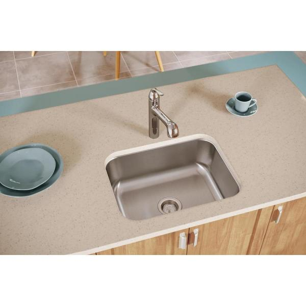 Elkay Dayton 23.5-in X 18.25-in Soft Satin Single-basin Undermount Residential Kitchen Sink