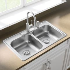 33x19 Kitchen Sink Grey Blinds Dayton 33 In X 19 Stainless Steel Double Basin Drop 4 Hole Residential