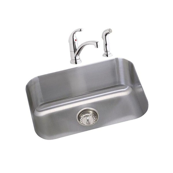 Elkay Dayton 23.5-in X 18.25-in Radiant Satin Single-basin Undermount Residential Kitchen Sink