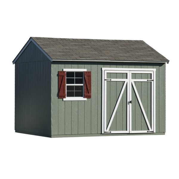Heartland Gentry Saltbox Engineered Wood Storage Shed Common 12-ft X 10-ft; Interior