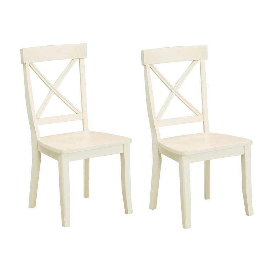 Styles Of Chairs Home Styles Set Of 2 White Side Chairs At Lowes