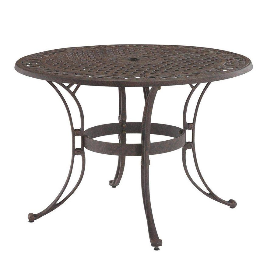 biscayne round outdoor dining table 48
