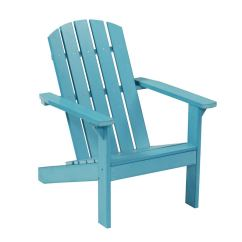 Adirondack Chairs At Lowes Weird Office Garden Treasures Windsor Bay Blue Resin Patio Chair