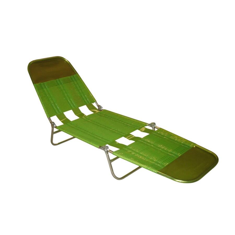 folding banana lounge chair double papasan metal frame shop garden treasures green at lowes.com