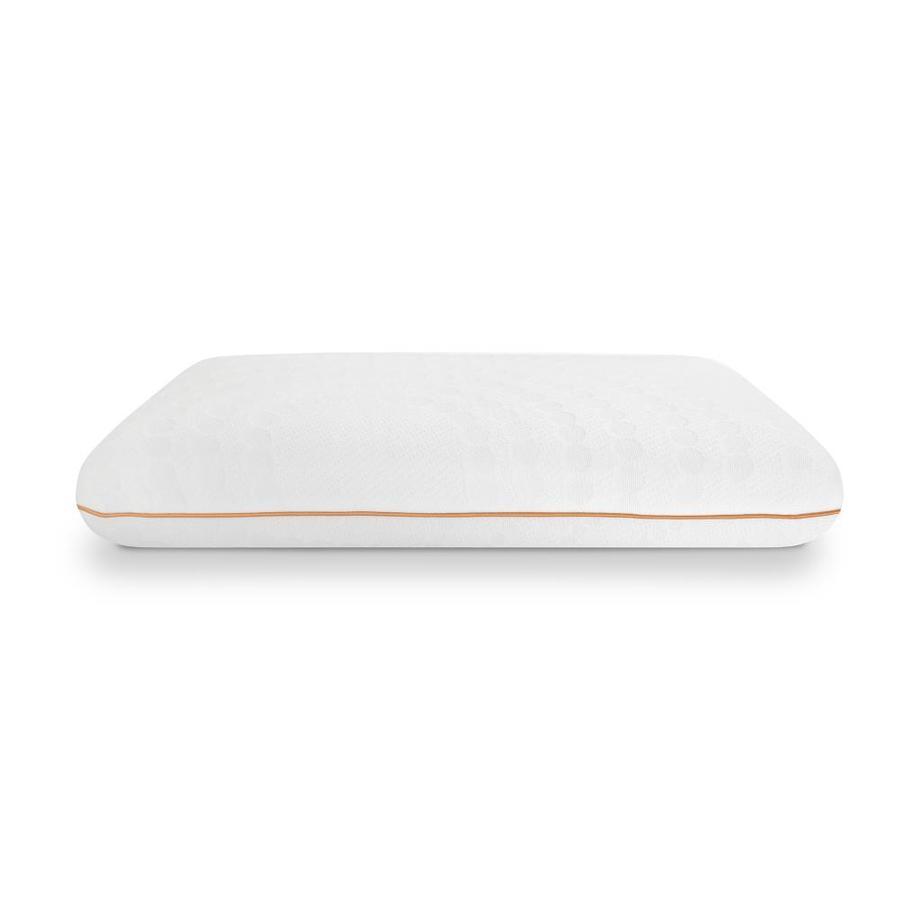 sensorpedic standard medium memory foam bed pillow in the bed pillows department at lowes com