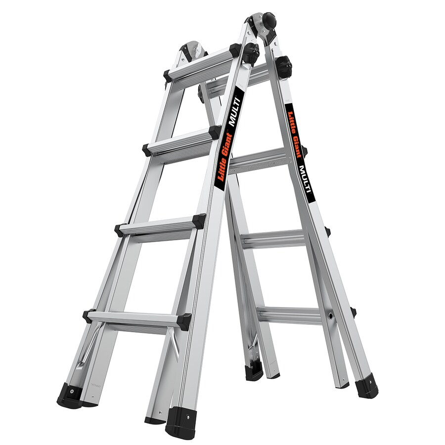 little giant ladders multi m17 aluminum 15 ft reach type 1a 300 lbs capacity telescoping multi position ladder