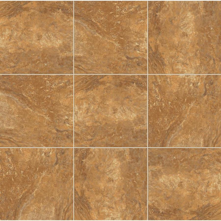 style selections mesa rust 18 in x 18 in glazed porcelain tile