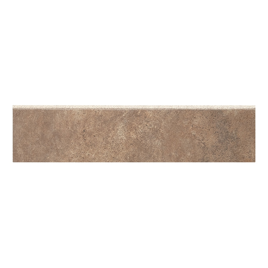 style selections mesa rust glazed porcelain porcelain bullnose tile 3 in x 12 in lowes com