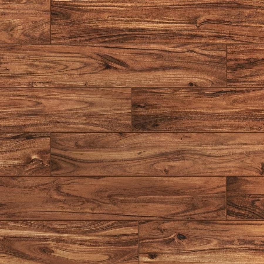 style selections acacia natural 6 in x 36 in glazed porcelain wood look floor and wall tile