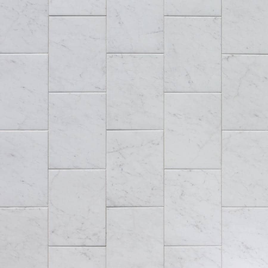 style selections futuro white 9 in x 12 in glazed porcelain marble look tile