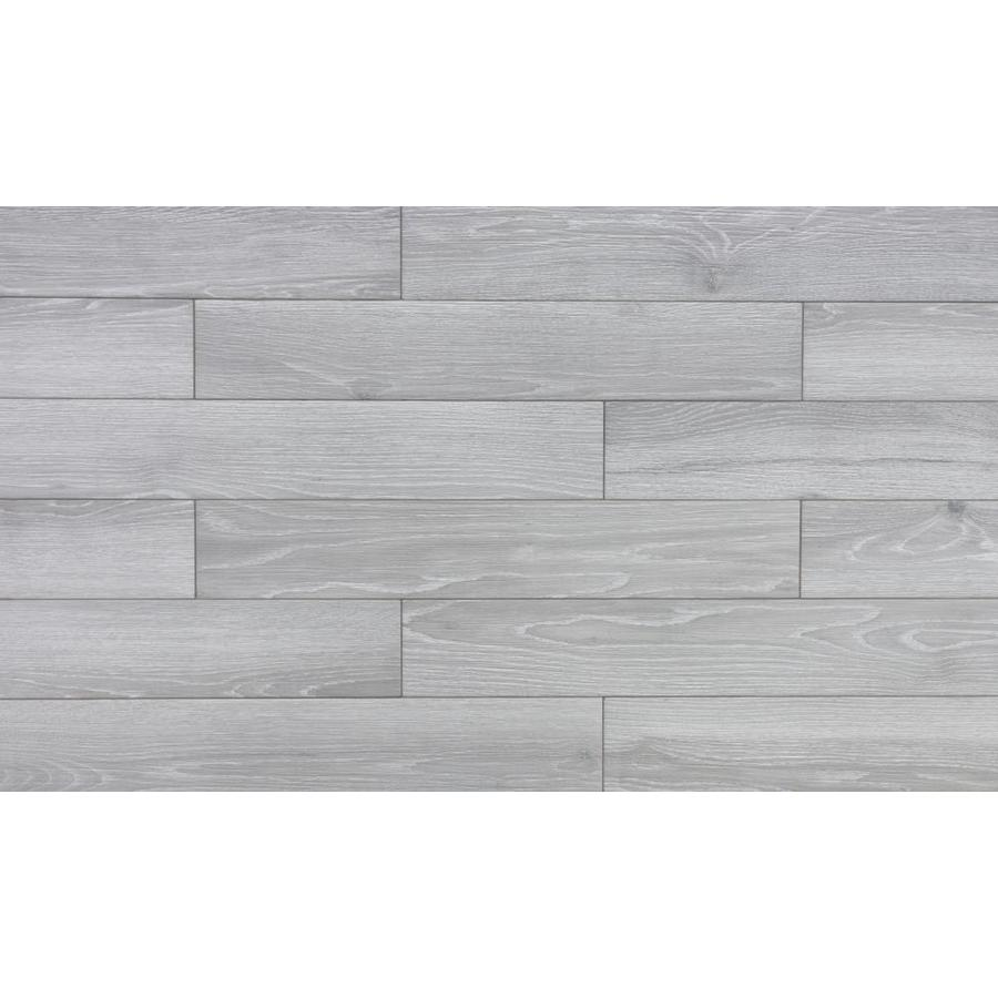 true porcelain co aspen light grey 6 in x 36 in glazed porcelain wood look floor tile lowes com