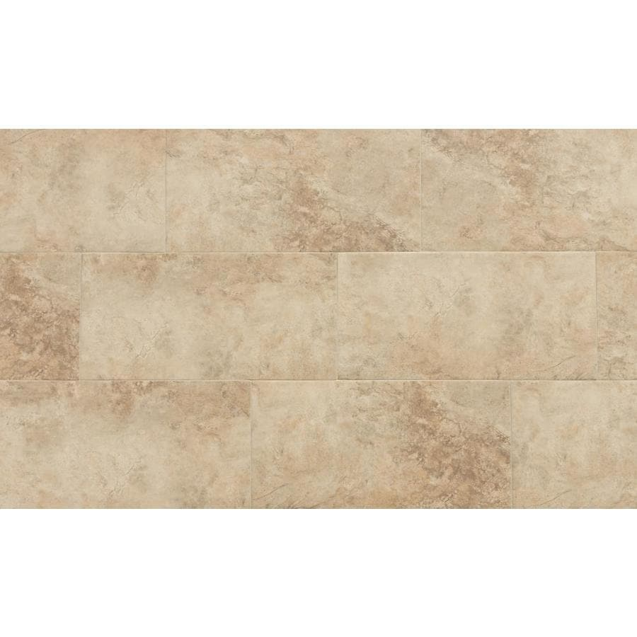 style selections mesa beige 12 in x 24 in matte porcelain stone look floor tile lowes com