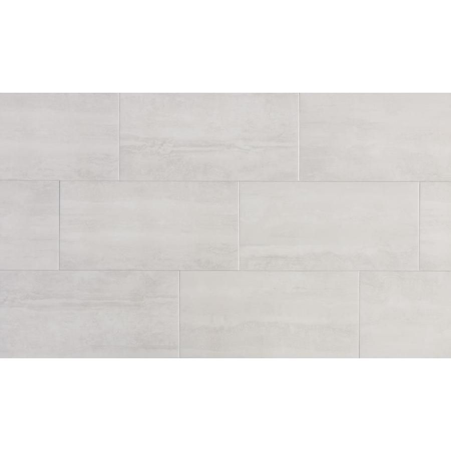 true porcelain co endless ivory 12 in x 24 in matte porcelain stone look floor tile lowes com