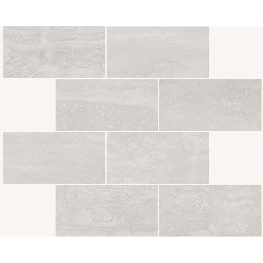 true porcelain co endless ivory 12 in x 12 in matte porcelain brick floor tile