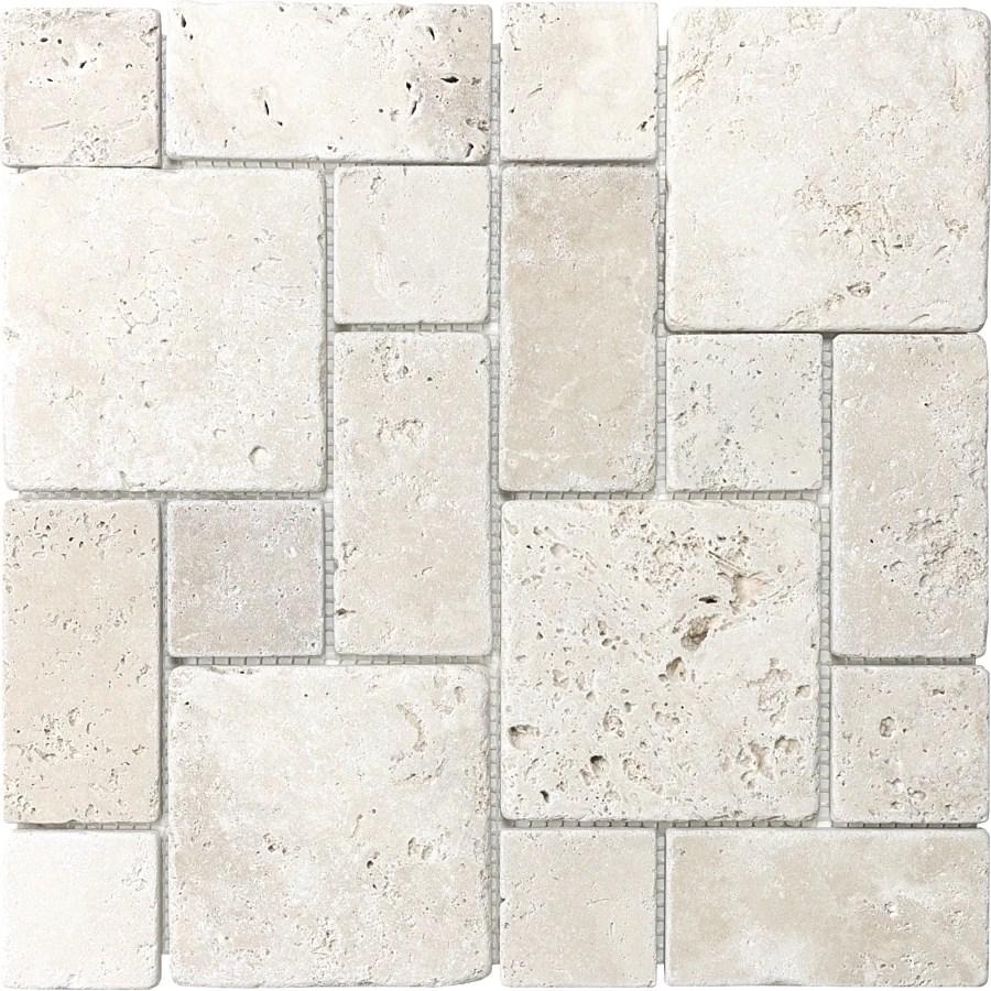 anatolia tile chiaro 12 in x 12 in tumbled natural stone travertine mixed pattern wall tile