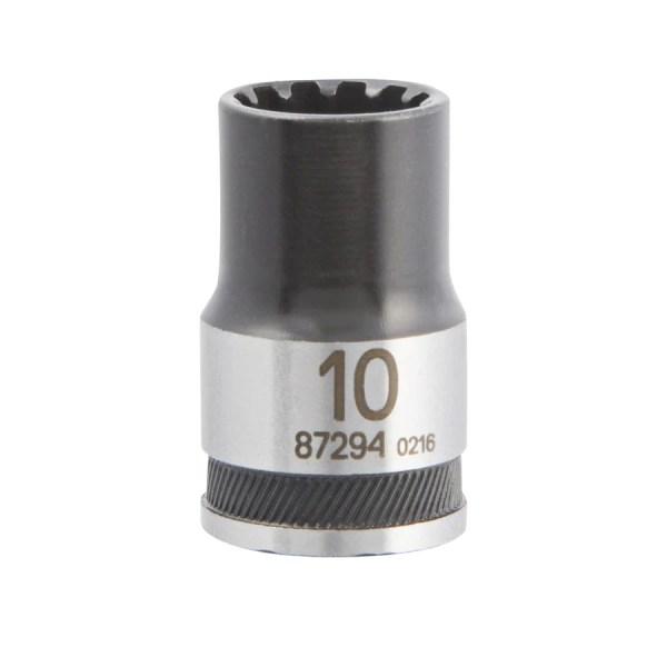 Kobalt Universal Metric 3 8-in Drive Spline 10mm Shallow Socket