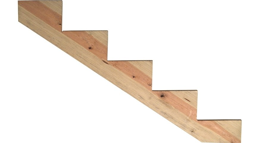Severe Weather 5 Step Pressure Treated Pine Deck Stair Stringer In   Prefab Outdoor Wood Stairs   Closed Stringer   Concrete   Stair Handrail Outdoor   Commercial   Prefab Metal