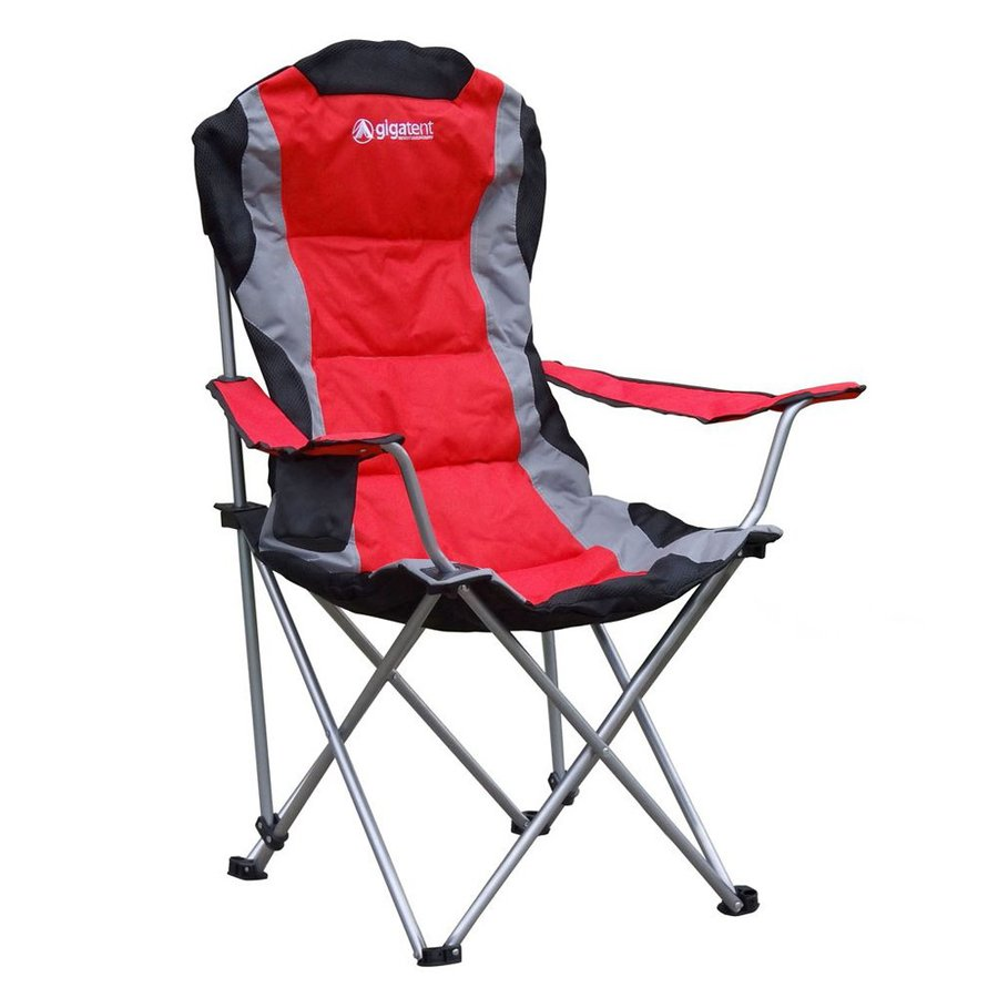 lowes camping chairs dining side leather gigatent red steel folding chair at com