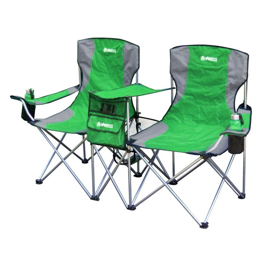Double Camping Chair Gigatent Green Steel Folding Side By Side Double Camping Chair At