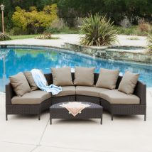 Selling Home Decor Newton 5-piece Wicker Frame Patio