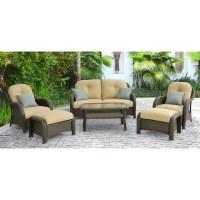 Shop Hanover Outdoor Furniture Newport 6-Piece Wicker ...