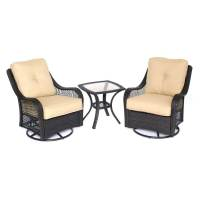 Shop Hanover Outdoor Furniture Orleans 3-Piece Wicker ...