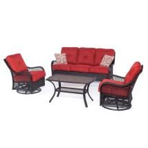 Hanover Outdoor Furniture Orleans 4-piece Wicker
