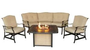 Hanover Outdoor Furniture Traditions 4 Piece Aluminum
