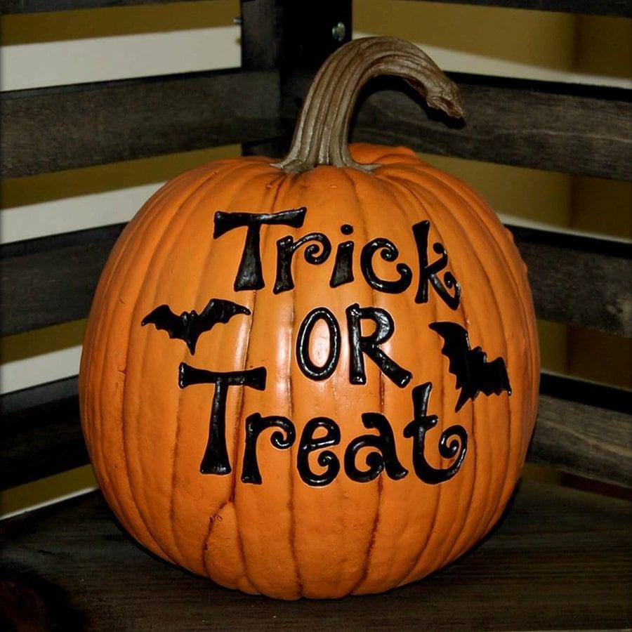 CraftTex Trick or treat Pumpkin Sculpture at Lowescom