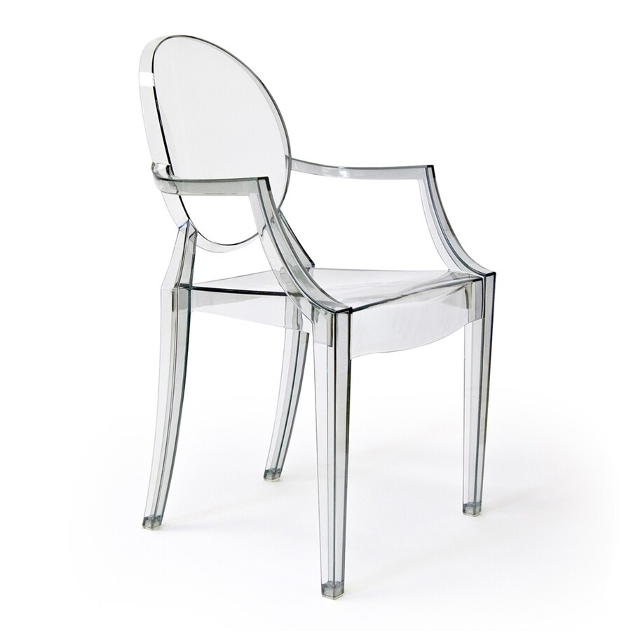 Plastic Clear Chair Aeon Furniture Specter Modern Clear Plastic Accent Chair At Lowes