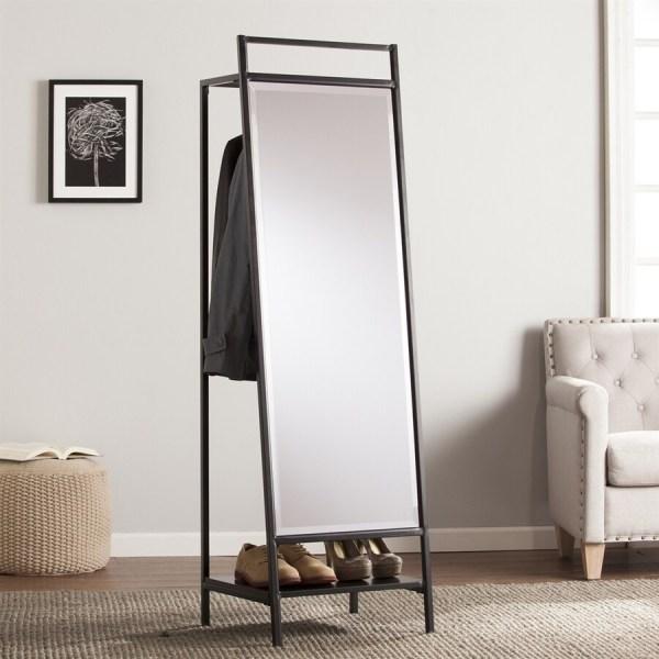 Hidden Mirror with Coat Rack