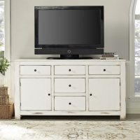 Shop Crosley Furniture Kendall Antique White Rectangular ...