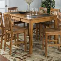 Sunny Designs Sedona Rustic Oak Wood Extending Dining ...