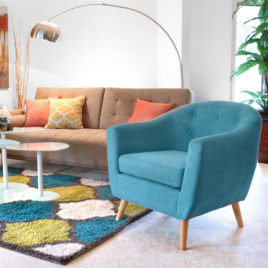 teal accent chair rent a lumisource rockwell casual at lowes com