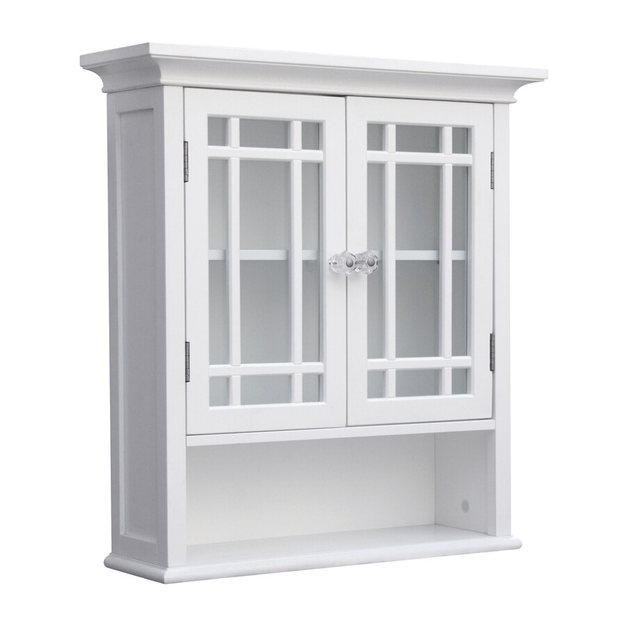 Wall Cabinets For Bathrooms Elegant Home Fashions Neal 22 In W X 24 In H X 7 In D White