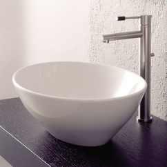Lowes White Kitchen Sink Outdoor Modular Shop Nameeks Scarabeo Ovo Vessel Oval Bathroom ...