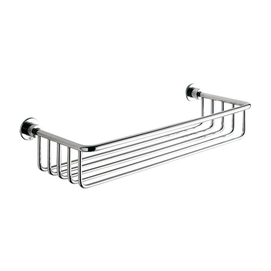Nameeks 1-Tier Polished Chrome Brass Bathroom Shelf at