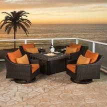 Rst Brands Deco 5-piece Resin Frame Patio Conversation Set