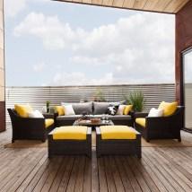 Rst Brands Deco 8-piece Resin Frame Patio Conversation Set