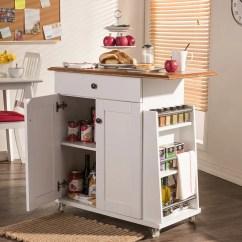 Modern Kitchen Cart Cabnet Baxton Studio White At Lowes Com