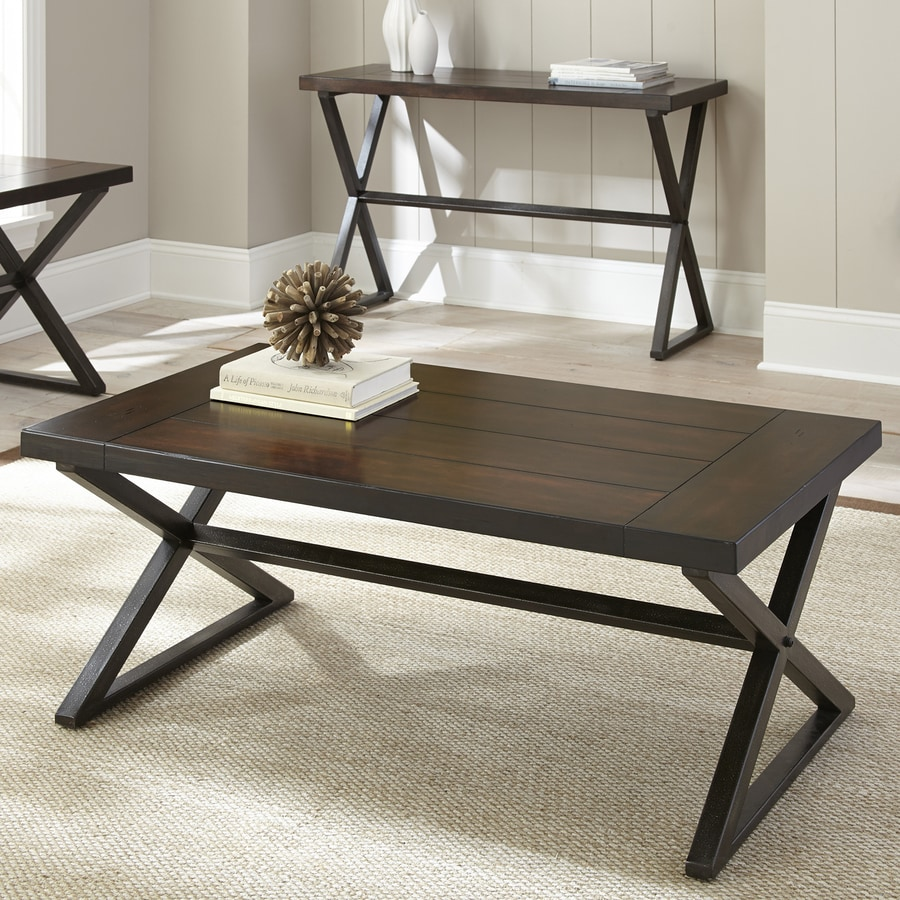 steve silver omaha burnished dark cherry coffee table in the coffee tables department at lowes com