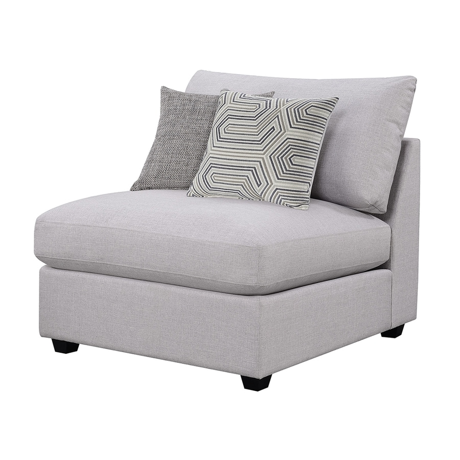 gray accent chair with ottoman fishing trolley scott living casual at lowes com