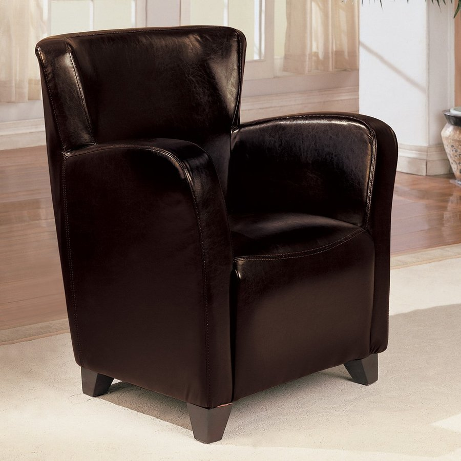 Brown Leather Wingback Chair Coaster Fine Furniture Casual Brown Faux Leather Wingback Chair At