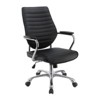 Shop Scott Living Black Contemporary Desk Chair at Lowes.com