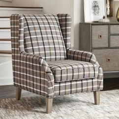 Accent Chair Gray Used Transport Chairs For Sale Scott Living Rustic Neutral Brown Weathered At